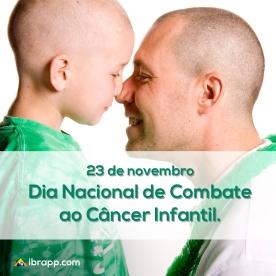 Divulgação do dia nacional de combate ao câncer infantil.